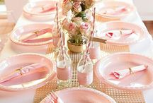Pink & Gold Party / Pink and Gold party ideas, decor, food & other event inspiration