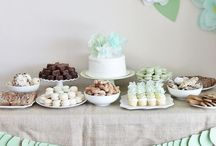 Gold and Mint / gold and mint party decor and inspiration by Sendomatic Online Invitations!