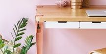 ROSE - PINK HOME OFFICE / Home Office / Small Office (part 1 The Creator) lookbook depicts a comfy and modern work space. Let's work and create from where we find ourselves the most at ease. Home.