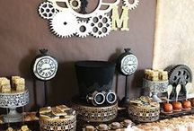 Steampunk Party / Steampunk party decor and inspiration by Sendomatic Online Invitations!