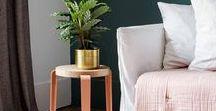 TABOURET - STOOL / LOU le premier tabouret TIPTOE est proposé avec une assise en bois massif hêtre ou chêne. Style industriel avec les pieds en acier coloré. Idéal pour la cuisine, la chambre au le bureau. Le tabouret LOU peut être utilisé en bout de canapé ou en en table de chevet. #tabouret #stool #acier #bois #industriel