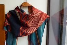 foulards cravates/scarves made of vintage men ties Karen Monny