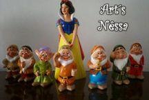 Branca de Neve e os Sete Anões / Meus trabalhos com Branca de Neve, algumas peças foram reformadas de clientes que trouxeram, postei o antes e depois.