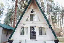 Mountain House / #home #A-frame cabin #chalet #cabin