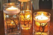 Candles/bows/festive stuff