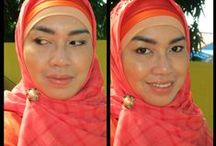 My creations - My style / My creation on face using make up and hijab style