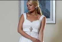 Plus Size // Romantica / Romantica of Devon's  Silhouette bridal collection is only available in sizes 18 to 36. This gorgeous collection of modern and classic styles has been designed to enhance the natural curves of the larger bride.  Sumptous satins, tulles, organzas and delicate embroidery combine to give you the dress of your dreams.