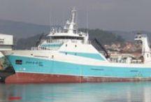 Arrastreiros Conxeladores. / Barcos conxeladores que faenan no Atlántico Norte.