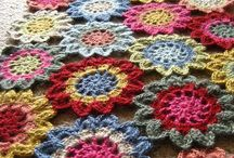 granny square and mandala