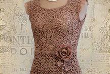 crochet: dresses / haken/ breien:  jurken en tunieken