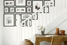 Gallery walls using photos & pictures / Personalise your space with your photos, pictures and art