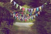 Bunting, garlands and wreaths / Buntings, wreaths, garlands...