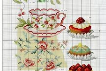embroidery patterns: high tea