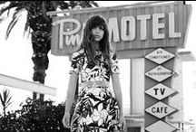 1 9 7 3 / The collection offers pieces inspired by Priscilla's wedding dress, using dainty wallpaper-like laces with a modern approach. Prints and colours are heavily influenced by the motel's he frequented. Fluid and beautifully draped dresses flaunt femininity, and different pleating techniques add an elevated touch that brings our pieces from day to night.