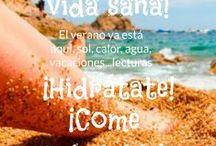 ¡Y en verano, vida sana! / El verano ya está aquí, sol, calor, agua, vacaciones...lecturas! ¡Come sano! ¡Hidrátate! ¡Ejercicios al aire libre!