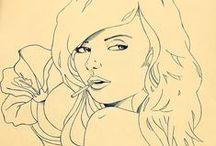 MY drawings.doodles.wips.illustrations / by Minhia Defoy