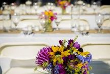 Table Bouquets / Farm to table flowers we have done