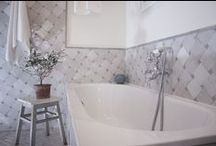 Bathroom inspiration / Beautiful zellige tiles inspiration from www.antibes-rental.com