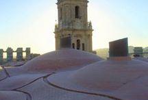 Catedral de La Encarnación Málaga / Visita a las cubiertas de la Catedral  El visitante, al recorrer este camino, subirá a una altura de casi 50 metros con más de 200 escalones. Una vez en las bóvedas, podrán contemplar el maravilloso paisaje que se divisa desde todo el perímetro de la Catedral malagueña, convirtiéndose así en otro atractivo turístico más.