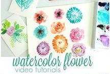 Watercolor tutorials and inspiration / For those who love watercolors and want to learn more or get inspired