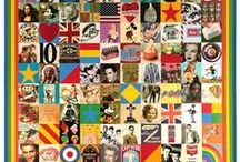 Sir Peter Blake prints / a selection of different print images by Peter Blake.