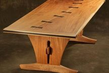 Wood ~ Tables / Dining Tables, Coffee Tables, Sideboards, Night Stands, End Tables, etc. / by Mike Yarwood