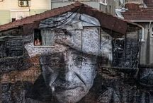 "The Wrinkles of the City ""ISTANBUL"" / Sometimes, the life, depth, and history of a city is just staring you in the face! Check out the fascinating project by JR, telling the history of the city through the faces of its citizens and buildings."
