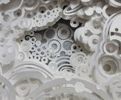 Paper Art / Art crafted with paper. Folded, rolled, cut, crafted,torn, shaped, imprinted, etc. Awesome!