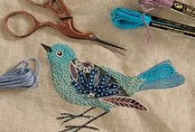 Embroidery / Vintage transfers, beading and other surface decoration ideas.