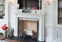 Fireplace Vignettes / Looking back through our portfolio, we found some of our favorite fireplace vignettes to share.