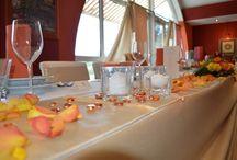Bézs esküvői dekoráció / www.dekowest.hu