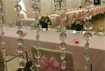 Púderrózsaszín esküvői dekoráció