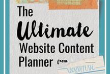The Ultimate Website Content Planner / No idea what to write on your new website? Or maybe you're a website designers struggling to get content from your clients. This planner includes instructions and templates from a pro copywriter to help you write the content you need, including sales page and about page templates. Affiliate opportunities for web designers.