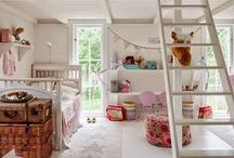 Home Decor for Kids / Kids' rooms can be stylish, too! Play room and child bedroom ideas. Corral those toys and create lovely living spaces that are uncluttered, happy, and peaceful!