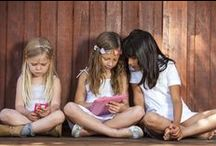 Kid Tech and Digital Safety / Technology and apps for kids can be found here: issues like digital safety for kids in cyber space, how to protect your iPad from sticky fingers and drops, and how to manage screen time in your household.