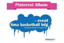 LIMA Basketball - GOR Pajajaran Bandung / Ajang turnamen bola basket antar universitas di Indonesia. Liga Mahasiswa (LIMA) yang digelar di GOR Pajajaran, Bandung, 13-15 Desember 2013. Infokost.net turut mensponsori event tersebut.