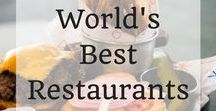 World's Best Restaurants / Food & travel are perfect partners. In fact one of life's greatest joys is enjoying a fabulous meal in a stunning location. We all have our favourite restaurants that we know and love in our home town but finding where to eat when you travel can be a little trickier. Let me make it easy for you! This board contains in depth reviews of the very best restaurants from all over the globe. You are sure to find you new favourite restaurant while traveling here!