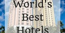 World's Best Hotels / Choosing a hotel can be tricky when travelling. This board features in depth hotel reviews from around the globe to make choosing a hotel that much easier. Whether you are looking for a beach shack in Bali or a 5 star resort in Boracy you are sure to find what your are looking for here!
