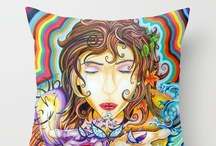 Throw Pillows by Bryan Collins / Throw pillows featuring the art of Bryan Collins available at http://society6.com/bryancollins/pillows