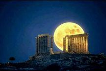 THE SKY ABOVE GREECE.... / THE SUN..THE MOON..THE STARS.... / by Olga Liakas