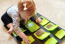 Sensory Play / Activities that stimulate a young child's senses: touch, smell, taste, sight, and hearing.