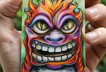 "ACEO and ATC Art / 2.5""x3.5"" (baseball card size) artwork."