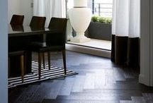 RABA / Tongue N Groove European Oak engineered boards - RABA  A bold, hand-finished linear effect offers texture to Raba's solid black colouring with a hint of brown. Boards available from http://www.tonguengrooveflooring.com.au