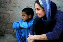 Angelina Jolie / Beautiful heart.  Beautiful woman.  Beautiful family.   / by Shantenei Langdale