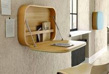 Hide away desks / Hide away desks are very handy if you have very little space