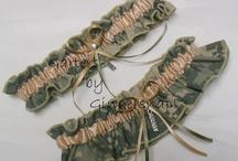 Wedding Garters/ Military Bridal Garters / Military Wedding Garters / by Garters by Gingersnap