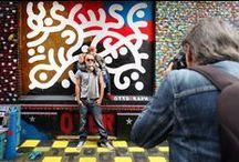 Wijdesteeg Project 2014. / Artists Ottograph and Hero de Janeiro at the Wijdesteeg in Amsterdam.