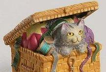COLECCION LENOX VICTORIAN CATS / Colección de 24 dedales