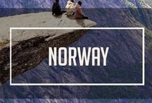 The Norway Project / Lusting over the dramatic natural scenery of the country of Norway. Pinning all of our favorite dramatic rocks, cliffs, glimmering shots of the Northern Lights, and adorable townscapes. Norway- We're coming for you soon!