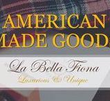 American Goods / American made goods and products crafted and designed by local artisans and makers in the USA. Everything from home decor, jewelry and accessories, fine art, and more. Follow La Bella Fiona on Pinterest.